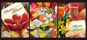油畫花卉相冊封面