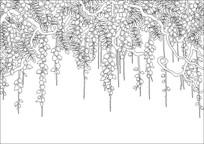 吊兰背景墙雕刻图案