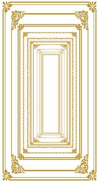 欧式花纹边框相框素材