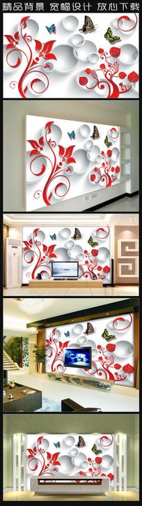 艺术花纹背景墙