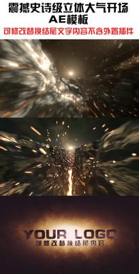 大气震撼三维ae开场片头视频