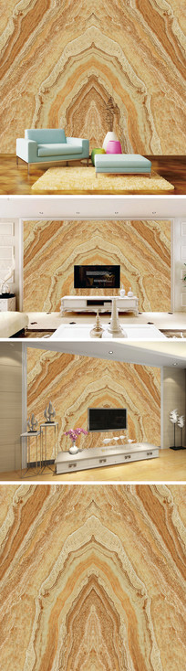 3D立体大理石纹背景墙