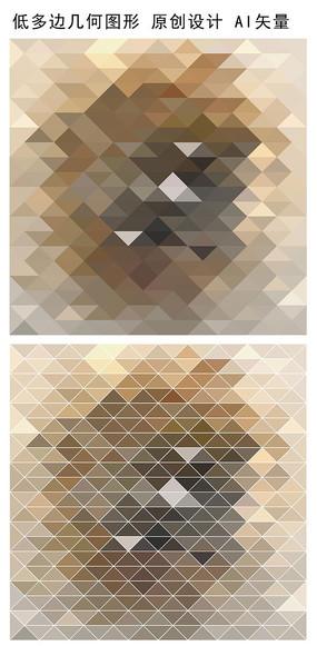 抽象图案规则三角形矢量背景