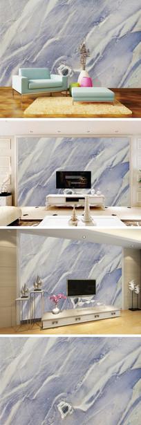 蓝色大理石纹背景墙