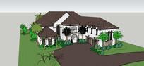 美式住宅别墅模型