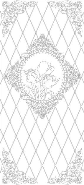 欧式镜框花纹
