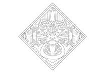 欧式线条雕刻纹样