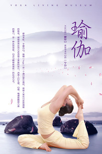 中国风养生运动瑜伽海报