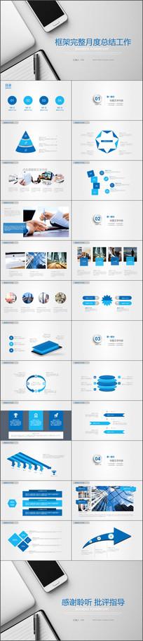 工作总结计划商业企业PPT