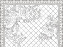 牡丹花欧式花纹背景墙