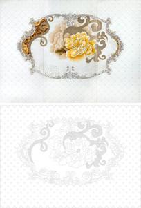 欧式花朵花纹雕刻图案