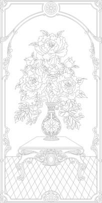 欧式花瓶玄关雕刻图案