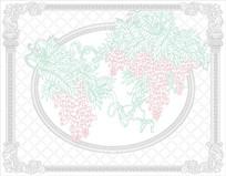 葡萄欧式花纹背景墙