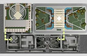 校园景观设计平面图