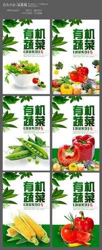 有机蔬菜水果促销海报