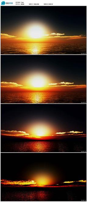 海上日落视频