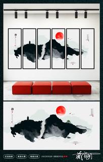 水墨中国风装饰挂画设计
