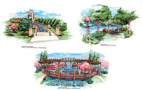 公园景观节点透视图 JPG