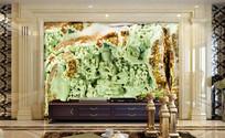 玉雕观音洞浮雕3D背景墙