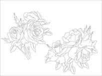 玫瑰花雕刻图案