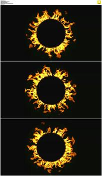 燃烧的火圈视频素材