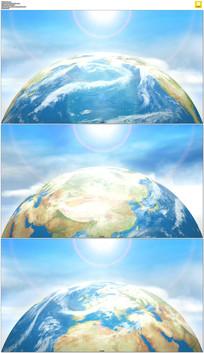 转动的地球背景视频素材