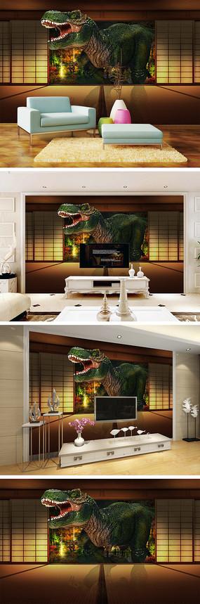 3d恐龙背景墙