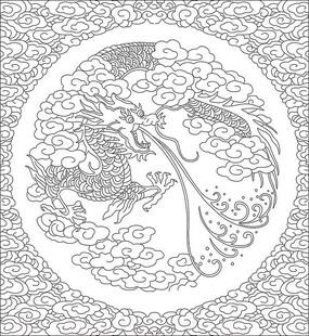 龙纹雕刻图案