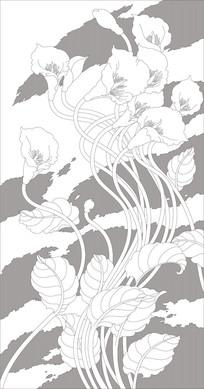 郁金香现代雕刻图案