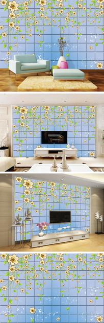花朵花藤瓷砖背景墙