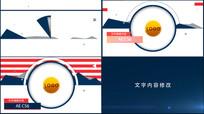 旋转打开logo显示片头模板