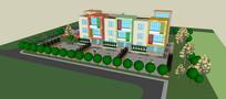 幼儿园、住宅SU模型