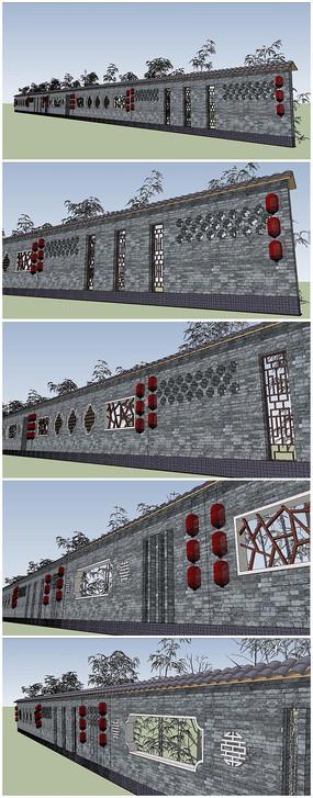 徽派建筑围墙