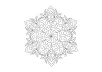 花瓣叠加镂空雕刻纹样