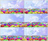 牡丹花海视频素材