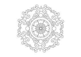 奢华精美花卉装饰雕刻纹样