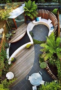 私家花园景观设计节点意向图