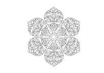 叶子元素镂空花纹雕刻纹样