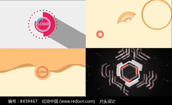 三组图形标志动画AE模版图片