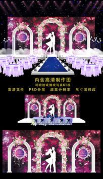高端婚礼婚庆舞台背景