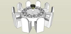 西式婚礼酒桌
