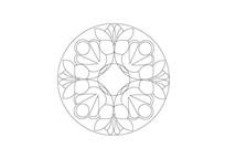 半圆形花瓣组合雕刻纹样