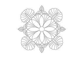花卉变形图案