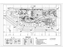 城市休闲广场总平面布置图