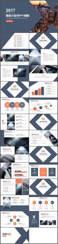 创意互联网科技融资PPT模板