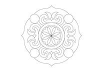 花瓣形状花瓣元素组合雕刻纹样