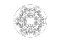 蝙蝠元素环形雕刻纹样
