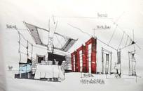 餐厅手绘效果图