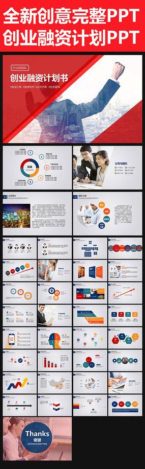 简约创业融资商业计划书PPT