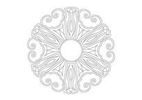 吉祥图案环形雕刻纹样